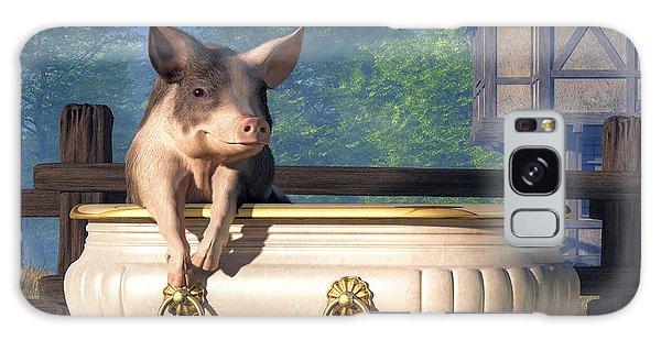 Pig In A Bathtub Galaxy Case by Daniel Eskridge