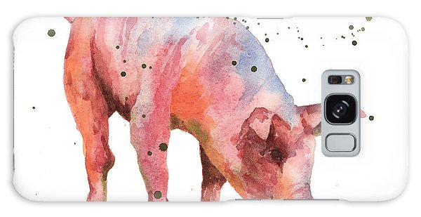 Pig Painting Galaxy Case by Alison Fennell