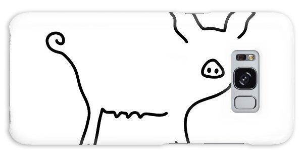 Pig Piglet Make A Mess Galaxy Case by Lineamentum