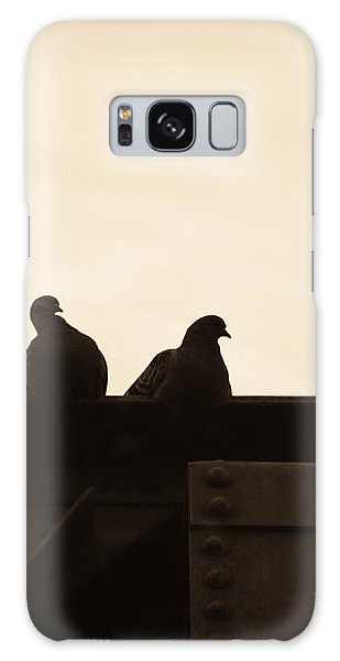 Pigeon And Steel Galaxy Case by Bob Orsillo