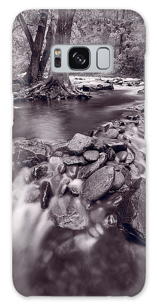 White Mountain National Forest Galaxy Case - Pigeon Forge River Great Smoky Mountains Bw by Steve Gadomski