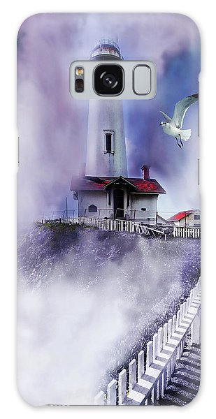 Pigeon Lighthouse With Fog Galaxy Case