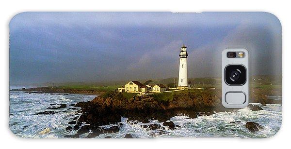 Pigeon Point Lighthouse Galaxy Case by Evgeny Vasenev