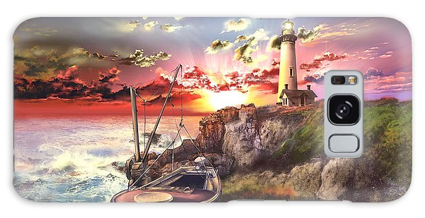Pigeon Galaxy S8 Case - Pigeon Point Lighthouse by Bekim Art