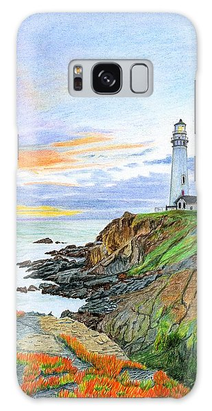Pigeon Point Sunset Galaxy Case by Mike Robles