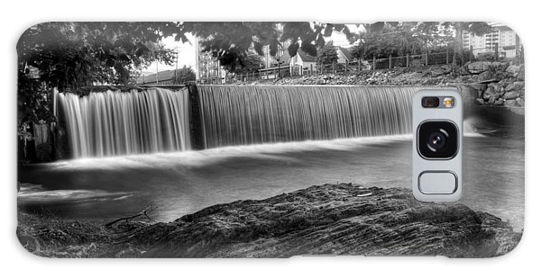 Pigeon River At Old Mill In Black And White Galaxy Case