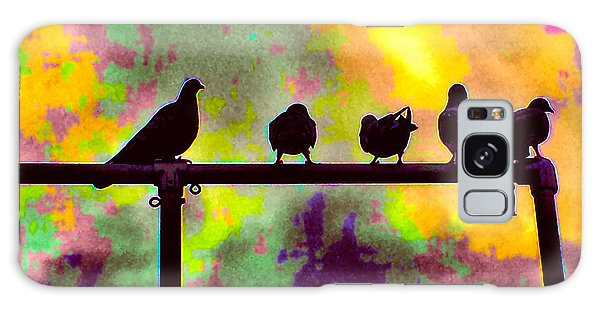 Pigeons In Abstract 2 Galaxy Case