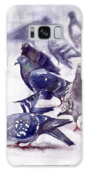 Pigeon Galaxy S8 Case - Pigeons Watercolor by Suzann's Art
