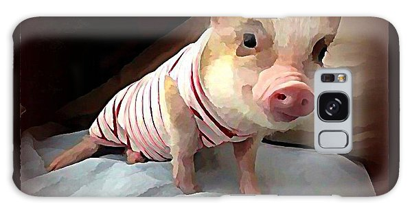 Galaxy Case - Piglet In Pjs by Raven Hannah