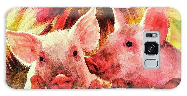 Piglet Playmates Galaxy Case by Tina LeCour