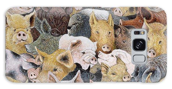 Pigs Galore Galaxy Case by Pat Scott