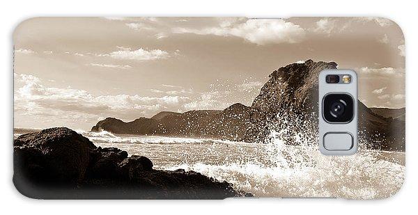 Piha New Zealand Waves Galaxy Case