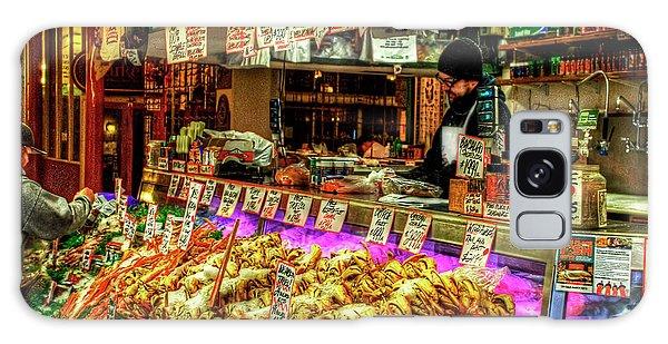 Pike Market Fresh Fish Galaxy Case by Greg Sigrist