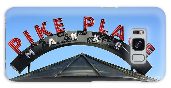 Pike Street Market Sign Galaxy Case