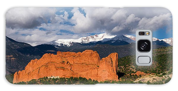 Pikes Peak And Garden Of The Gods Panoramic Galaxy Case