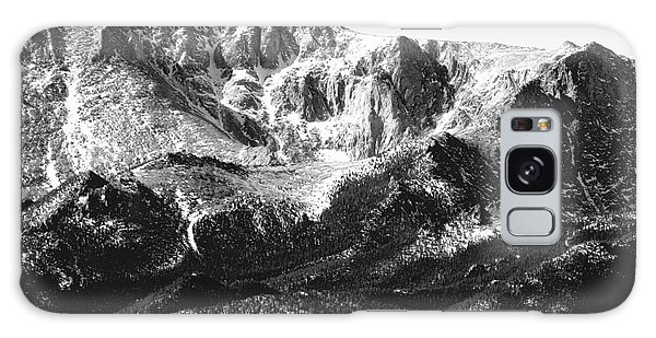 Pikes Peak Black And White In Wintertime Galaxy Case