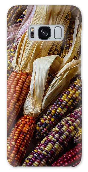 Indian Corn Galaxy Case - Pile Of Indian Corn by Garry Gay