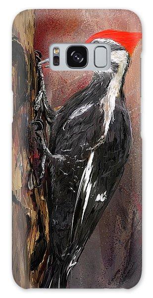 Pileated Woodpecker Art Galaxy Case