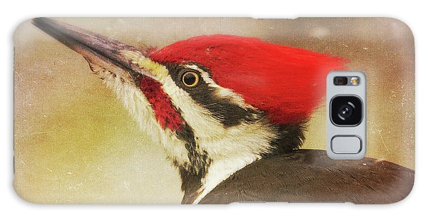 Pileated Woodpecker With Snowfall Galaxy Case by Heidi Hermes