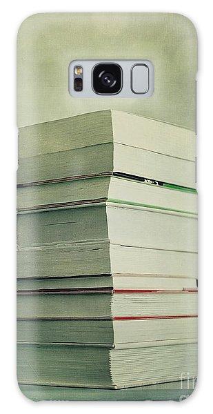 Still Life Galaxy Case - Piled Reading Matter by Priska Wettstein