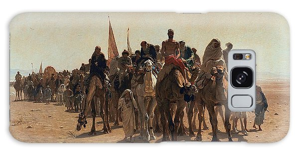 Camel Galaxy S8 Case - Pilgrims Going To Mecca by Leon Auguste Adolphe Belly