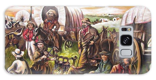 American    History  Pilgrims On The Plain Galaxy Case