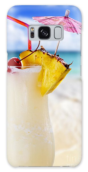 Pina Colada Cocktail On The Beach Galaxy Case