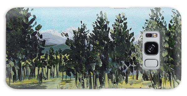 Pine Landscape No. 4 Galaxy Case