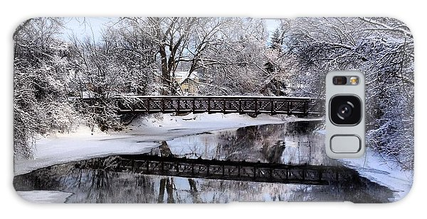 Pine River Foot Bridge From Superior In Winter Galaxy Case