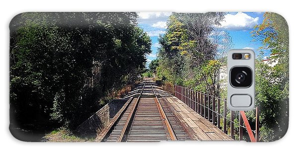 Pine River Railroad Bridge Galaxy Case