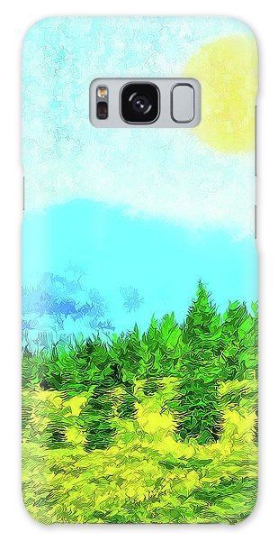 Pine Tree Mountain Blue - Shasta California Galaxy Case