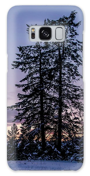 Pine Tree Silhouette    Galaxy Case
