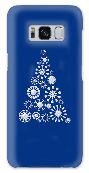 Pine Tree Snowflakes - Dark Blue Galaxy Case