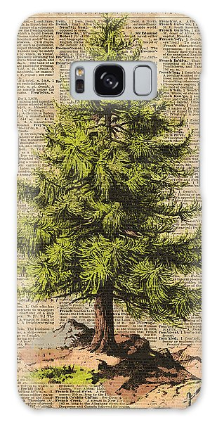 Nature Galaxy Case - Pine Tree,cedar Tree,forest,nature Dictionary Art,christmas Tree by Anna W