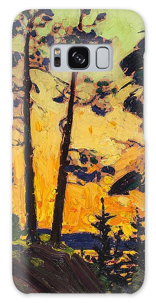 Pine Trees At Sunset Galaxy Case