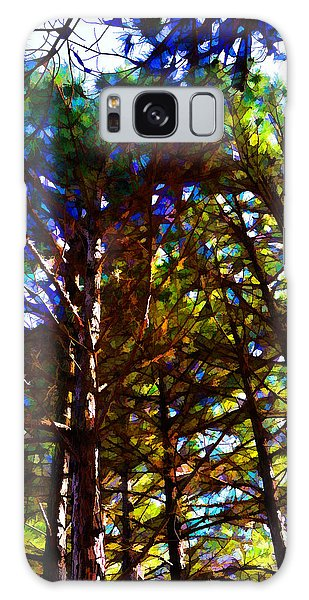 Pine Trees In Abstract 1 Galaxy Case
