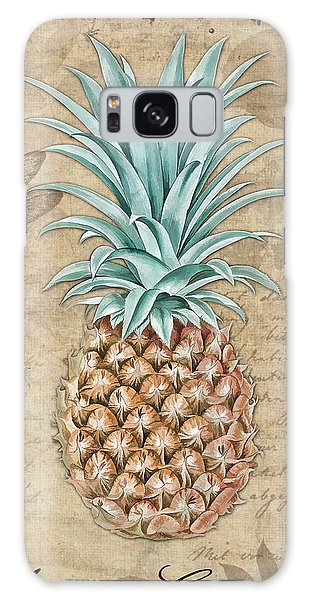Pineapple, Ananas Comosus Vintage Botanicals Collection Galaxy Case