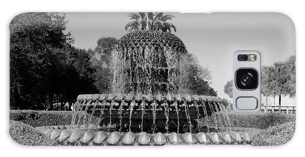 Pineapple Fountain Charleston Sc Black And White Galaxy Case