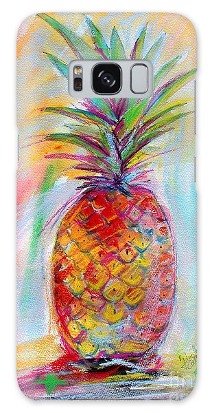 Pineapple Mixed Media Painting Galaxy Case