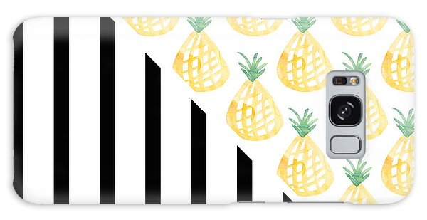 Pineapples And Stripes Galaxy Case