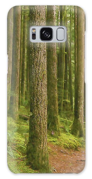 Pines Ferns And Moss Galaxy Case