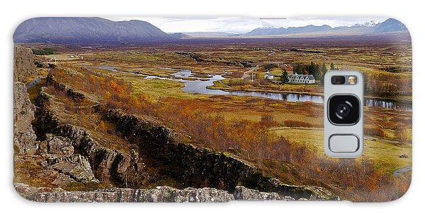 Pingvellir National Park Iceland Galaxy Case