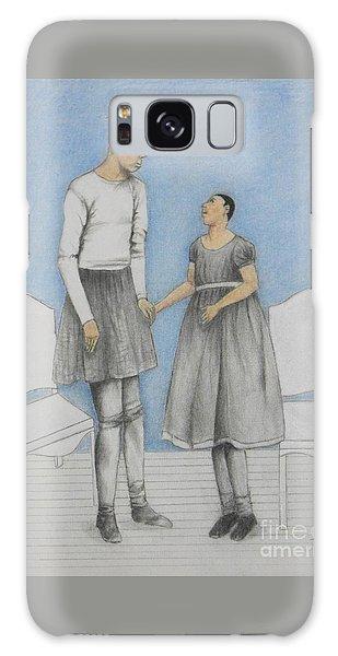 Pinhead Friends -- Portrait Of 2 Developmentally Disabled Men Galaxy Case