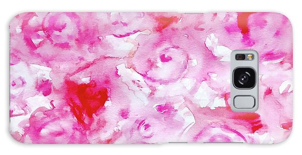 Pink Abstract Floral Galaxy Case