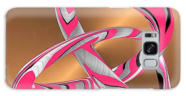 Pink Abstract On Gold Galaxy Case