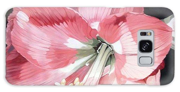 Pink Amaryllis Galaxy Case