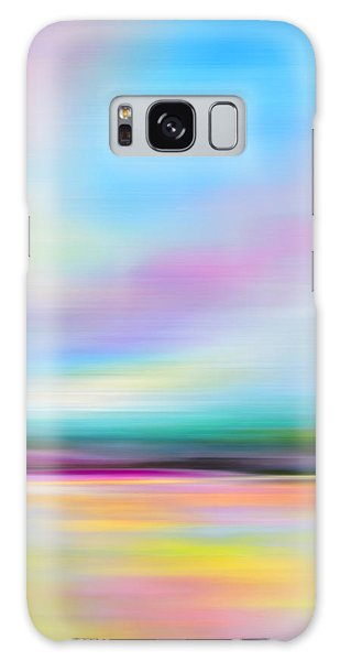Pink And Blue Landscape Galaxy Case