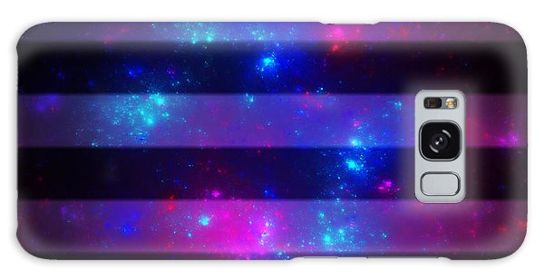 Pink And Blue Striped Galaxy Galaxy Case