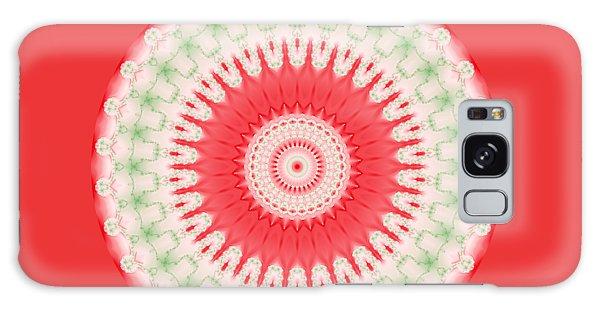 Pink And Green Mandala Fractal 001 Galaxy Case