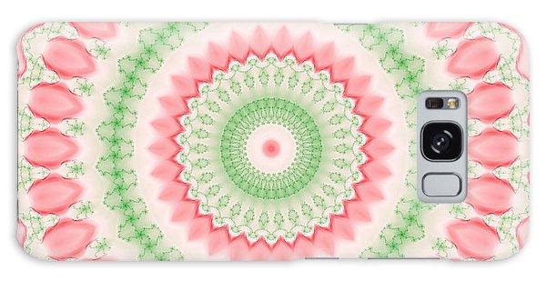 Pink And Green Mandala Fractal 003 Galaxy Case